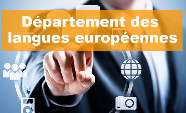 Département des langues Européennes
